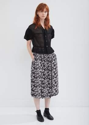 Comme des Garcons Polyester Crep de Chine Inkjet Print Skirt