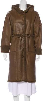 Chanel Leather Knee-Length Coat