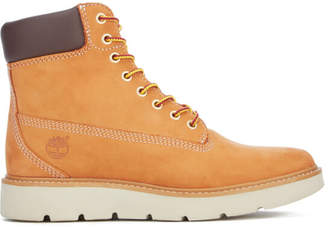 Timberland Women's Kenniston 6 Inch Leather Lace Up Boots - Wheat