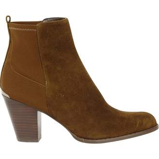 Stuart Weitzman Khaki Suede Ankle boots