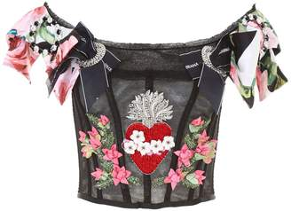 Dolce & Gabbana Embroidered Bustier Top