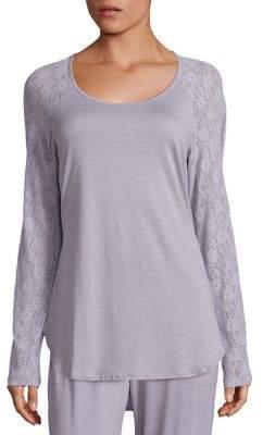 Cosabella Arizona Lace-Sleeve Top