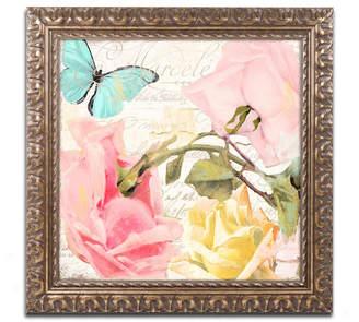 Flora Bella Trademark Global Color Bakery 'Florabella I' Ornate Framed Art
