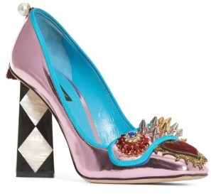Women's Dolce&gabbana Mother Of Pearl Pump $1,195 thestylecure.com