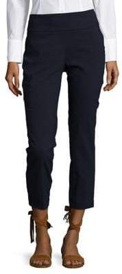 Lord & Taylor Petite Solid Power Stretch Ankle Pants