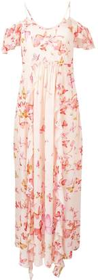 Twin-Set butterfly printed maxi dress