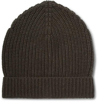 Dolce & Gabbana Ribbed Cashmere Beanie - Men - Army green