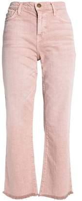 Current/Elliott Frayed High-Rise Kick-Flare Jeans