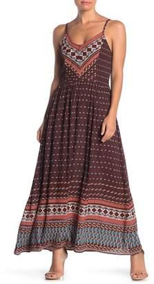 Angie Printed V-Neck Maxi Dress