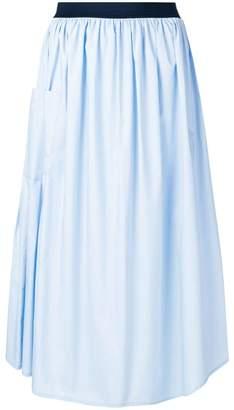 Roberto Collina gathered A-line skirt
