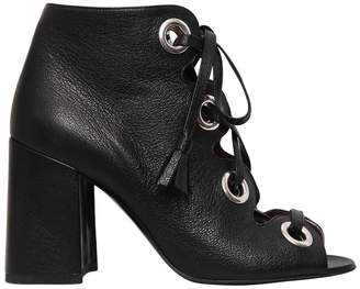 Laurence Dacade 90mm Patsy Lace Up Open Leather Boots