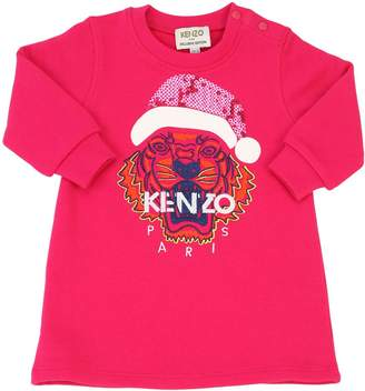 Kenzo Tiger Santa Sequined Cotton Dress