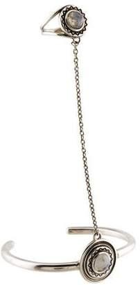 Pamela Love Moonstone Labradorite Hand Chain Bracelet