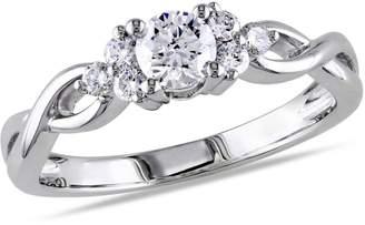 Concerto 0.5CT Diamond 14K White Gold Infinity Engagement Ring