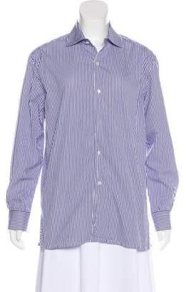 Ralph Lauren Purple Label Striped Long Sleeve Top