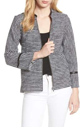 Foxcroft Irina Stripe Knit Jacket