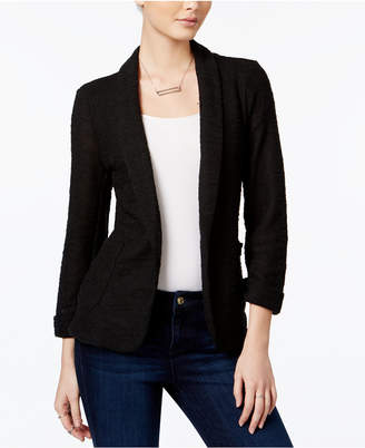 Maison Jules Three-Quarter-Sleeve Knit Blazer, Only at Macy's $79.50 thestylecure.com