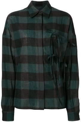 MM6 MAISON MARGIELA oversized checked shirt
