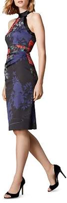 Karen Millen Floral Print Sheath Dress