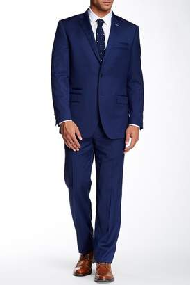 English Laundry Blue Sharkskin Two Button Notch Lapel Wool Suit $695 thestylecure.com