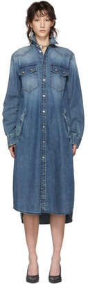 MM6 MAISON MARGIELA Blue Denim Button-Up Dress