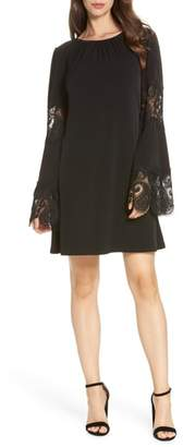 MICHAEL Michael Kors Lace Inset Bell Sleeve Shift Dress