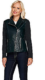 Linea by Louis Dell'Olio Leather Moto Jacket