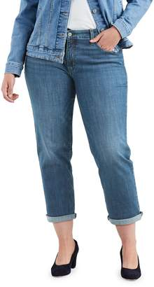 Levi's Plus Relaxed Tapered-Leg Boyfriend Oceans Away Jeans