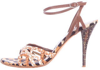 Casadei Braided Leather Sandals $85 thestylecure.com