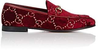 Gucci Women's Bit-Detail Velvet Loafers - Red