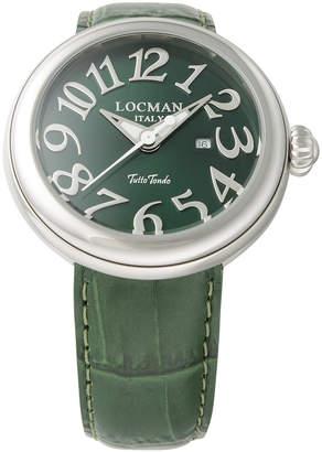 Locman (ロックマン) - LOCMAN ラウンドウォッチ デイト表示 ケース:グリーン ベルト:グリーン