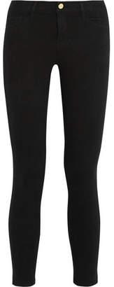 Frame Le Color Cropped Mid-rise Skinny Jeans - Black
