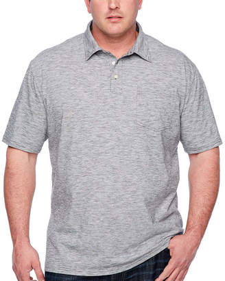 Co THE FOUNDRY SUPPLY The Foundry Big & Tall Supply Short Sleeve Stripe Jersey Polo Shirt Big and Tall