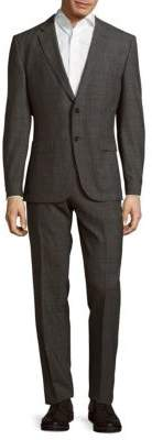 Hugo Boss Window Pattern Wool Suit