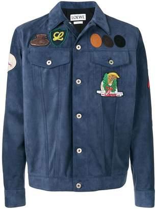 Loewe slim-fitted leather jacket