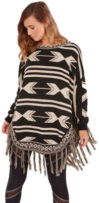 Boutique 9 P618 poncho black /beige