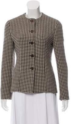 Giorgio Armani Wool Houndstooth Jacket