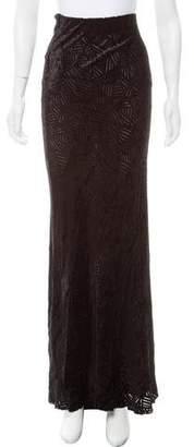 Kimberly Ovitz Velvet Maxi Skirt