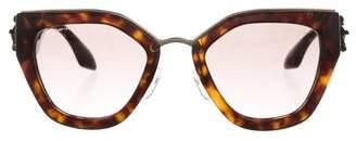 Prada Gradient Embellished Sunglasses