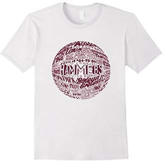 West Ham United Claret Typography Print t-shirt