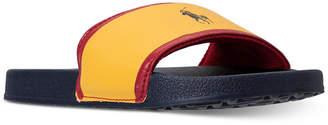 Polo Ralph Lauren (ポロ ラルフ ローレン) - Polo Ralph Lauren Little Boys' Quilton Slide Sandals from Finish Line
