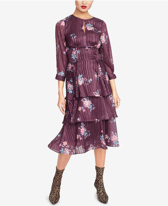 Rachel Roy Floral-Print Ruffled Midi Dress