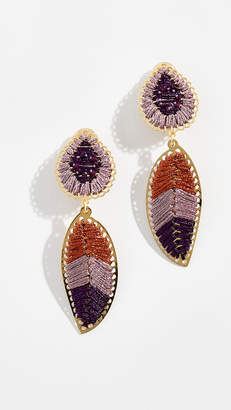 Mercedes Salazar Hoja Lila del Páramo Petite Clip-On Earrings
