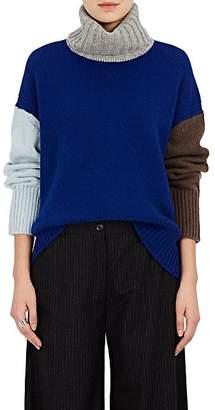 TOMORROWLAND Women's Colorblocked Wool Sweater - Blue