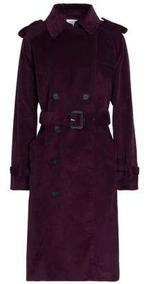 Rebecca Minkoff Ferry Double-Breasted Cotton-Corduroy Trench Coat