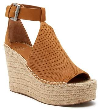 Marc Fisher Annie Perforated Espadrille Platform Wedge (Women)