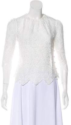Milly Lace Three-Quarter Sleeve Top