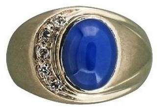 Vintage 14K White Gold with 3.15ct Sapphire and Diamond Ring Size 7.5