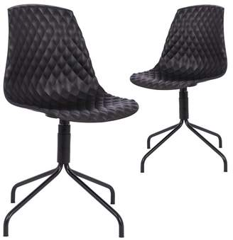 Set of 2 Mira Padded Dining Chairs
