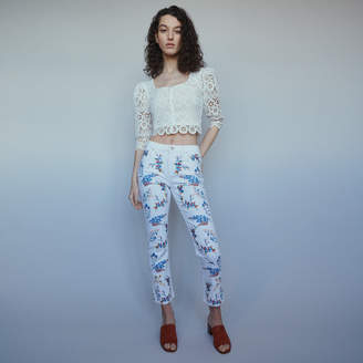 Maje Straight embroidered jeans